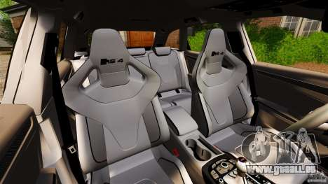 Audi RS4 Avant 2013 pour GTA 4 est une vue de l'intérieur