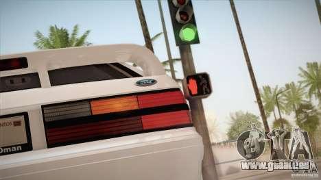 Ford Mustang SVT Cobra 1993 pour GTA San Andreas vue de côté