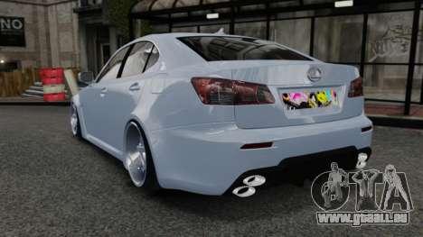 Lexus IS F 2009 pour GTA 4 Vue arrière de la gauche