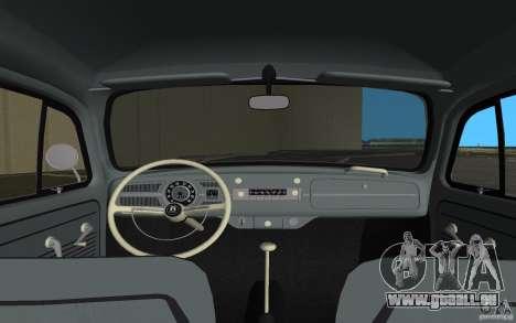 Volkswagen Beetle 1963 pour GTA Vice City vue de dessous