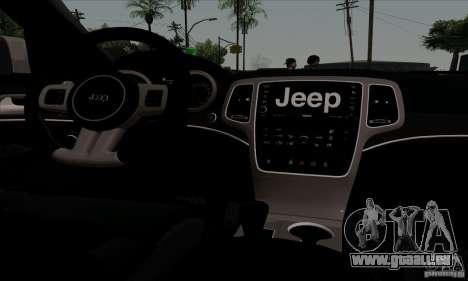 Jeep Grand Cherokee SRT-8 2013 pour GTA San Andreas vue de côté