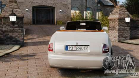 Rolls-Royce Phantom Convertible 2012 pour GTA 4 Vue arrière de la gauche
