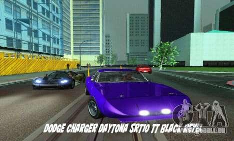 Dodge Charger Daytona SRT10 pour GTA San Andreas sur la vue arrière gauche