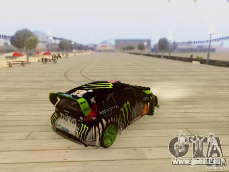 Ford Fiesta Gymkhana 3 pour GTA San Andreas sur la vue arrière gauche