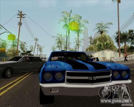 Chevrolet Chevelle SS pour GTA San Andreas vue de droite