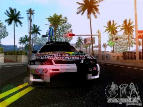 Nissan GT-R R33 HellaFlush für GTA San Andreas Rückansicht