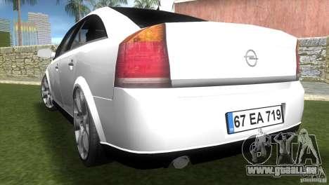 Opel Vectra pour une vue GTA Vice City de la gauche