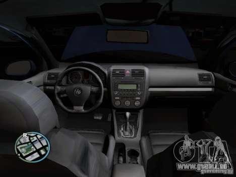 Volkswagen Golf V R32 Black edition für GTA San Andreas Seitenansicht