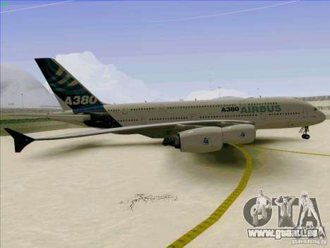 Airbus A380-800 für GTA San Andreas Innenansicht