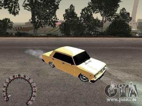 VAZ 2107 or pour GTA San Andreas laissé vue