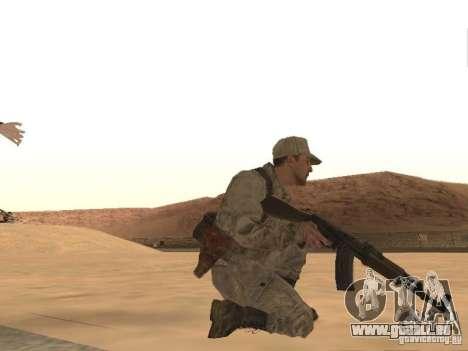 Une soldat soviétique de la peau pour GTA San Andreas quatrième écran