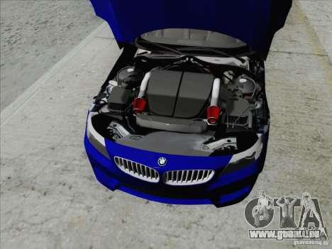 BMW Z4 2011 für GTA San Andreas Rückansicht