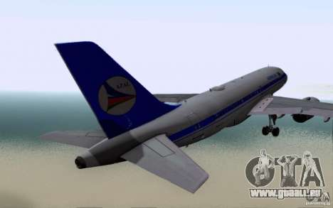 Airbus A-319 Azerbaijan Airlines pour GTA San Andreas vue de droite