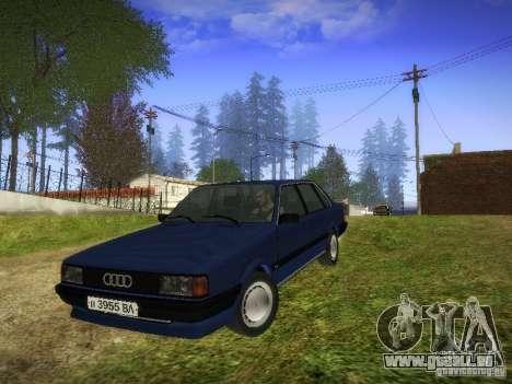 Audi 80 1987 V1.0 pour GTA San Andreas laissé vue