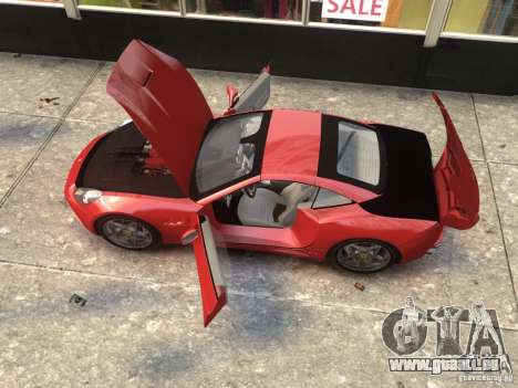 Ferrari California 2009 pour GTA 4 Vue arrière de la gauche