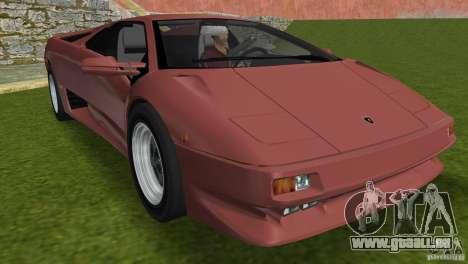 Lamborghini Diablo VTTT Black Revel für GTA Vice City obere Ansicht