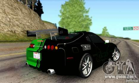 Toyota Supra Tunable für GTA San Andreas obere Ansicht