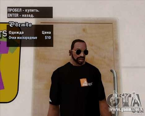 Aviator-Brille für GTA San Andreas dritten Screenshot