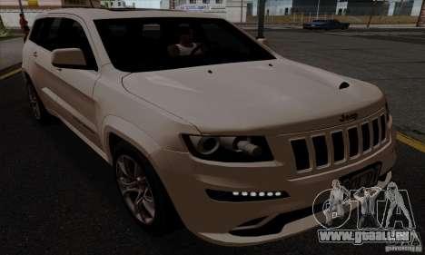 Jeep Grand Cherokee SRT-8 2013 pour GTA San Andreas sur la vue arrière gauche