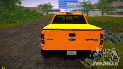 Ford F-150 SVT Raptor pour GTA Vice City sur la vue arrière gauche