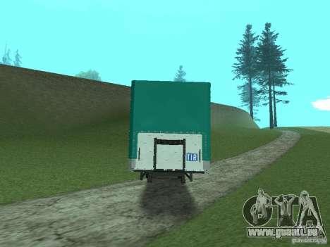 Remorque KOGEL pour GTA San Andreas sur la vue arrière gauche