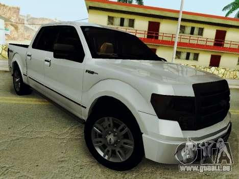 Ford F150 Platinum Edition 2013 für GTA San Andreas zurück linke Ansicht