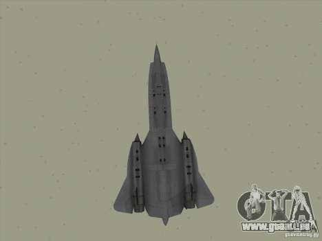 YF-12A pour GTA San Andreas vue de côté