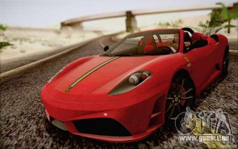 Ferrari F430 Scuderia Spider 16M pour GTA San Andreas sur la vue arrière gauche