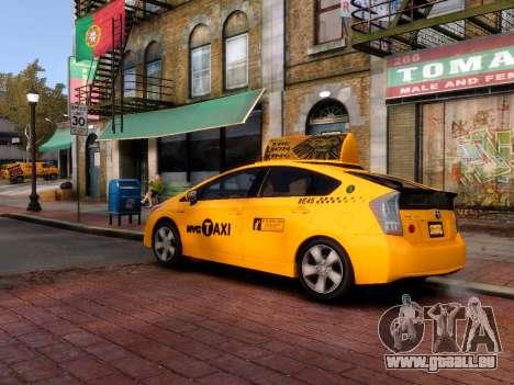 Toyota Prius NYC Taxi 2013 pour GTA 4 Vue arrière de la gauche