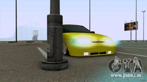 Sable jaune 2110 de VAZ pour GTA San Andreas sur la vue arrière gauche