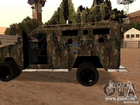 Lenco Bearcat NYPD für GTA San Andreas linke Ansicht