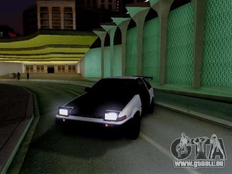 Toyota Sprinter Trueno AE86 GT-Apex Kouki pour GTA San Andreas sur la vue arrière gauche