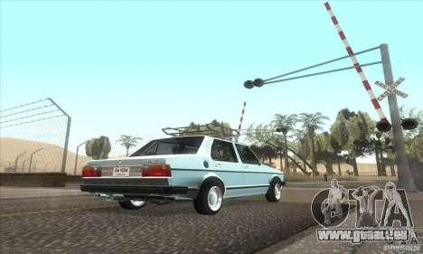 Volkswagen Jetta MK1 pour GTA San Andreas vue arrière