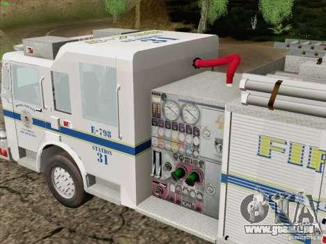 Pierce Pumpers. B.C.F.D. FIRE-EMS für GTA San Andreas Seitenansicht