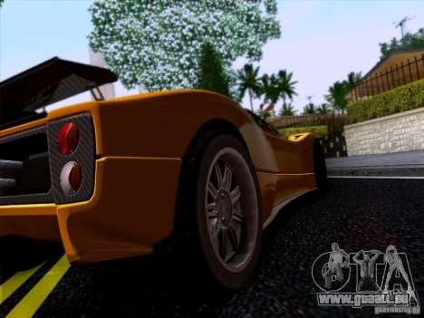 Pagani Zonda C12S Roadster für GTA San Andreas zurück linke Ansicht