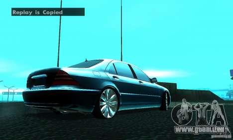 Mercedes-Benz S600 W200 pour GTA San Andreas sur la vue arrière gauche