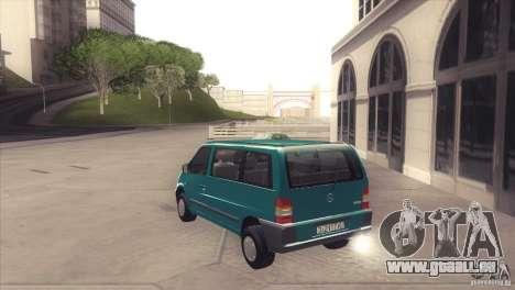 Mercedes-Benz Vito 112 für GTA San Andreas zurück linke Ansicht