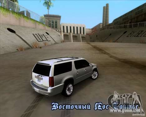 Cadillac Escalade ESV Platinum 2013 für GTA San Andreas obere Ansicht
