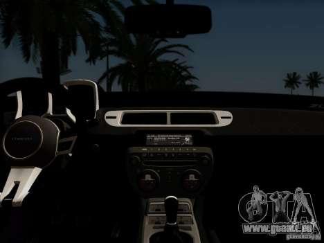 Chevrolet Camaro ZL1 2012 für GTA San Andreas Rückansicht