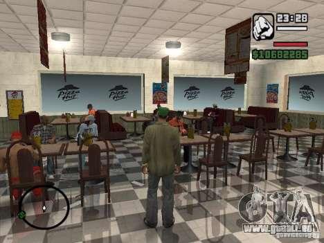 Nouveaux restaurants de textures pour GTA San Andreas sixième écran