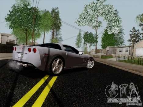Chevrolet Corvette Z51 pour GTA San Andreas vue de droite