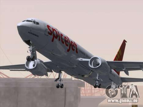 Boeing 737-8F2 Spicejet pour GTA San Andreas salon