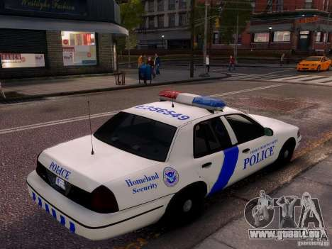 Ford Crown Victoria Homeland Security für GTA 4 obere Ansicht