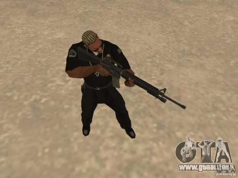 M4A1 from Left 4 Dead 2 pour GTA San Andreas cinquième écran