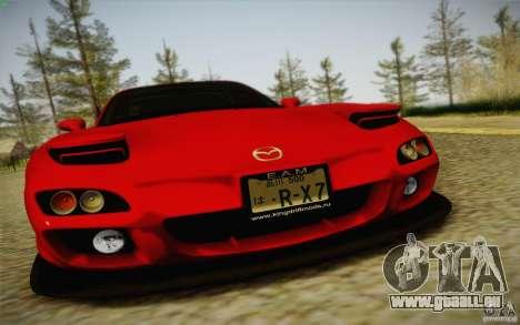 Mazda RX7 Hellalush V.2 pour GTA San Andreas sur la vue arrière gauche