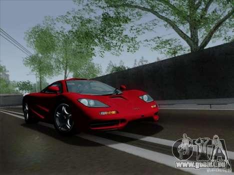 McLaren F1 1994 v1.0.0 pour GTA San Andreas laissé vue