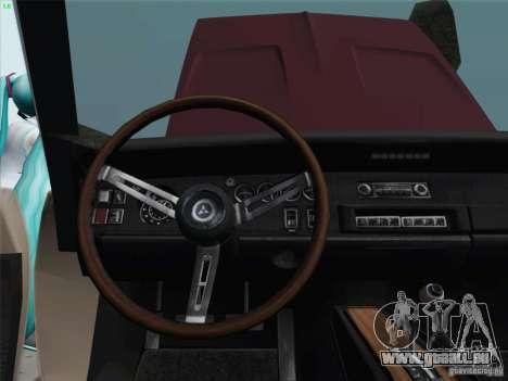 Dodge Charger 1969 pour GTA San Andreas vue intérieure