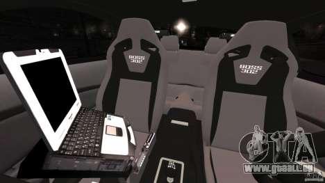 Ford Mustang 2013 Police Edition [ELS] pour GTA 4 est une vue de l'intérieur