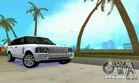 Land Rover Range Rover Supercharged 2008 für GTA Vice City obere Ansicht