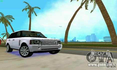 Land Rover Range Rover Supercharged 2008 pour une vue GTA Vice City d'en haut